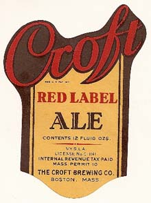Croft Red Label Ale Beer Label