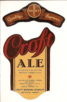 Croft Ale Beer Label
