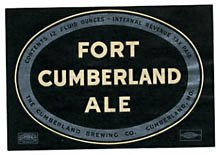 Fort Cumberland Ale Beer Label