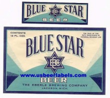 Blue Star Beer Label