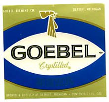 Goebel Beer Label
