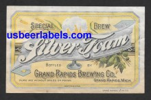 Silver Foam Beer Label
