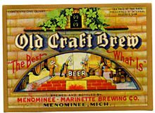 Old Craft Brew Beer Label