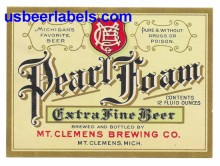 Pearl Foam Beer Label