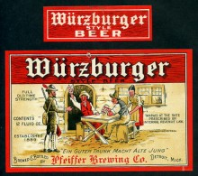 Pfeiffer Wurzburger Beer Label