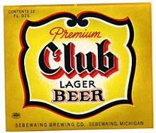 Club Premium Lager Beer Label