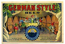 German Style Beer Label