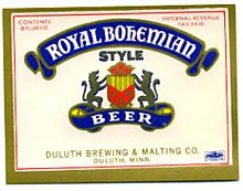 Royal Bohemian Style Beer Label