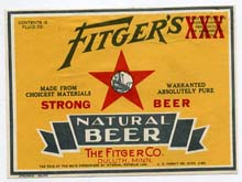 Fitgers Natural Beer Label