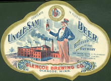 Uncle Sam Beer Label
