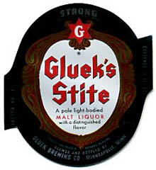 Glueks Stite Malt Liquor Beer Label