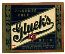 Glueks Pilsener Pale Beer Label