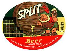 Split Beer Label