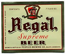 Regal Supreme Beer Label