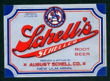 Schell's Root Beer Beer Label
