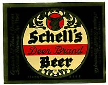 Schell's Deer Brand Beer Label