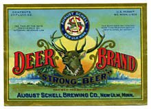 Deer Brand Strong Beer Label