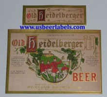 Old Heidelberger Beer Label