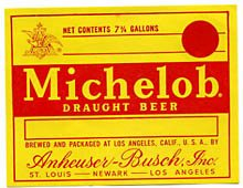 Michelob Draught Beer Label
