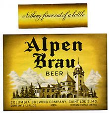 Alpen Brau Beer Label