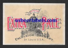 Excelsior Extra Pale Beer Label