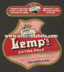 Beer Label Lemps Extra Pale