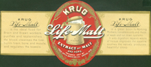 Krug Life Malt Beer Label