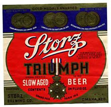 Storz Triumph Beer Label