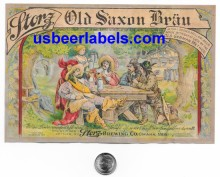 Storz Old Saxon Brau Beer Label