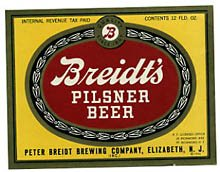 Breidts Pilsner Beer Label