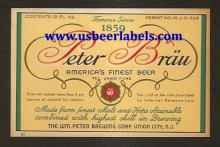 Peter Brau Beer Label