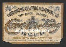 Copper King Beer Label