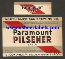 Paramount Pilsener Beer Label