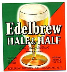 Edelbrew Half & half Beer Label
