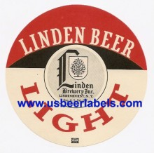 Linden Light Beer Beer Label
