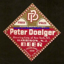 Peter Doelger Beer Label