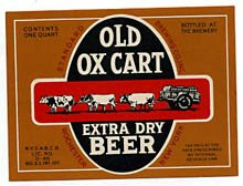 Old Ox Cart Extra Dry Beer Label