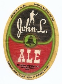John L Ale Beer Label