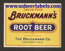 Bruckmanns Root Beer Beer Label