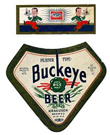 Buckeye Pilsener Type Beer Label