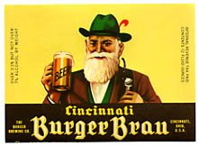 Cincinnati Burger Brau Beer Label