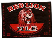 Red Lion Sparkling Ale Beer Label
