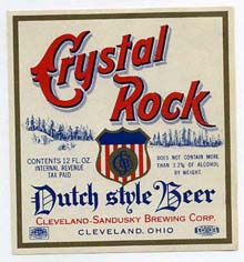Crystal Rock Dutch Style Beer Label