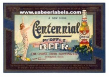 Centennial Beer Label