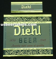 Diehl 1948 Beer Label