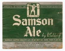 Samson Ale Beer Label