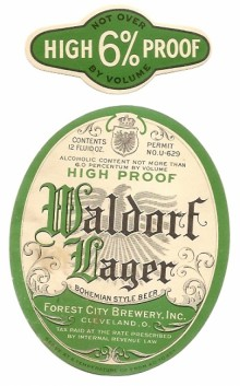 Waldor Lager High Proof Beer Label