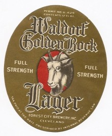 Waldorf Golden Bock Beer Label