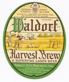 Waldorf Harvest Brew Beer Label