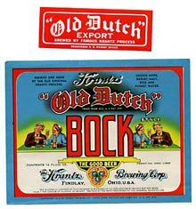 Krantz Old Dutch Bock Beer Label